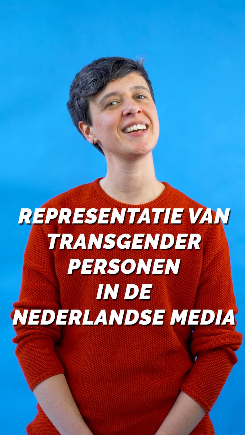 Jonah met de tekst representatie van transgender personen in de nederlandse media